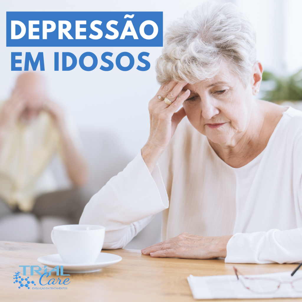 depressão em idosos. Mulher idosa com sinal de depressão