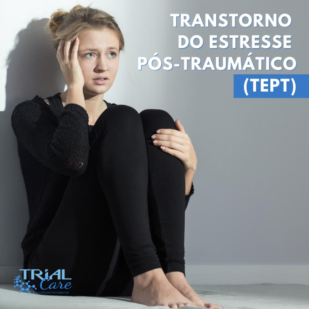 Mulher com transtorno do estresse pós-traumático
